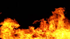 Fire flame slowmotion background 3 - stock footage