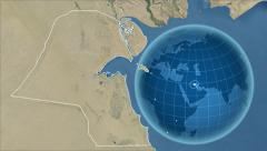 Stock Video Footage of Kuwait and Globe. Satellite