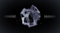 Abstract geometrical form flat animation Stock Footage