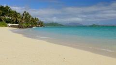 Beautiful Beach Island Sea Sky Nature Palm Trees Idyllic Footage Water Vacation Stock Footage