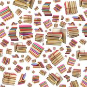 A stack of books on white background. Background. Stock Photos