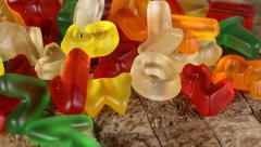 Jelly candies. Stock Footage