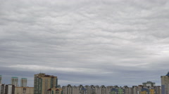 Dramatic sky in the city 4K - stock footage