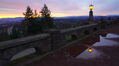 Rocky Butte Viewpoint At Sunrise - stock footage