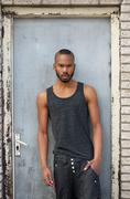 Portrait of a fashionable african american male model - stock photo