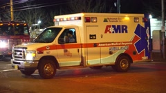 Ambulance Driving Away Stock Footage