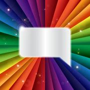 Bright vector rainbow celebration holiday banner - stock illustration