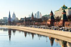 View of  Moscow Kremlin from  river, Russia Stock Photos