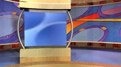 Studio 97 Angle B Oval Set With Animated Curves Stock Footage