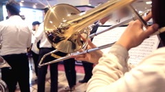 Trombone performing Stock Footage