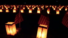Gettysburg, PA, USA - November 15, 2014 : 12th Annual Luminary Ceremony at So - stock footage