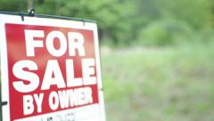 Home For Sale By Owner Sign - stock footage