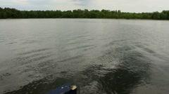 Lake view - Water waves - lake pan shot Stock Footage
