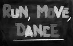 Run Move Dance Concept Stock Illustration