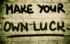 Make Your Own Luck Concept Stock Illustration
