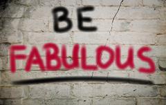 Be Fabulous Concept - stock illustration