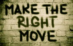 Stock Illustration of Make The Right Move Concept