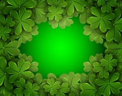 Background of the four-leaf clover Stock Illustration