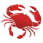 Vector boiled red crab, shellfish Stock Illustration
