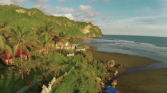 Aerial View of beach in Java Island Stock Footage
