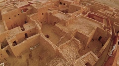 Aerial View of Mud houses in Bareina - stock footage
