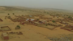Aerial View of mud houses in Bareina Stock Footage