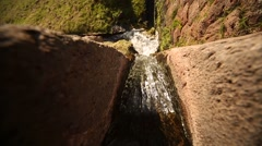 Water channel in Tipón (Inca ruins). Peru, South America Stock Footage