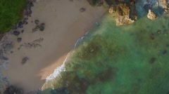 Aerial View of boat moored on sea - stock footage