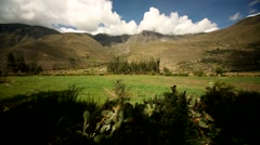 Driving in Landscape of Peru with a train from Cusco to Machu Picchu Stock Footage