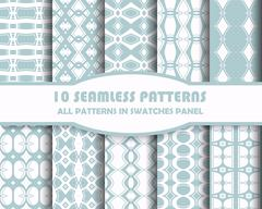 Stock Illustration of Vector of Seamless Patterns set