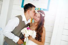 Emotional Moment of Wedding Day - stock photo
