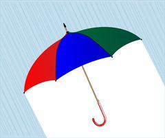 Umbrella In The Rain Stock Illustration