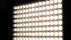 LED panel professional lighting turn dimmer recessed lighting Stock Footage