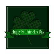 Happy Saint Patricks Day Greeting Card - stock illustration