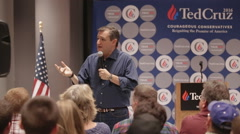 Presidential Candidate Senator Ted Cruz in Iowa - Terrorists Speech Stock Footage