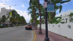 Miami Beach apartments and hotels Stock Footage
