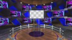 Studio 101 Angle A Set with Dais and rotating elements Stock Footage