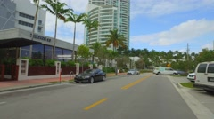 Miami Beach Commerce Street Stock Footage