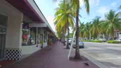 Miami Beach washington Avenue Stock Footage