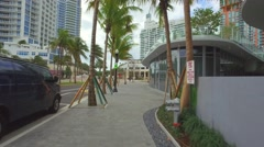 New construction Miami Beach Stock Footage