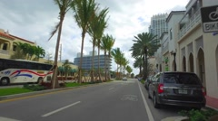 South Pointe Drive Miami Beach Stock Footage