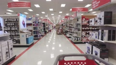 Interior video of a target store Miami FL Stock Footage