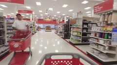 Walking through Target Stock Footage
