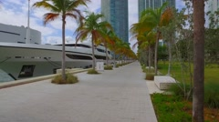Luxury yachts in South Florida Stock Footage