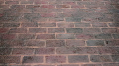 Rain on Brick Patio - stock footage
