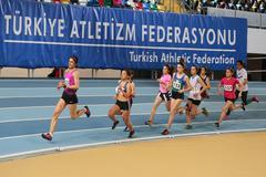 Turkcell Turkish Indoor Athletics Championships - stock photo