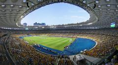 Panoramic view of Olympic Stadium in Kyiv Stock Photos