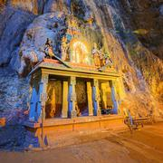 Temple in the middle of a cavern at Batu Caves Temple complex in Kuala Lumpur Stock Photos