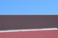 Roof metal sheets Stock Photos