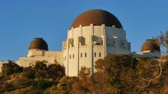 Dusk Griffith Observatory Establishing Shot   Stock Footage